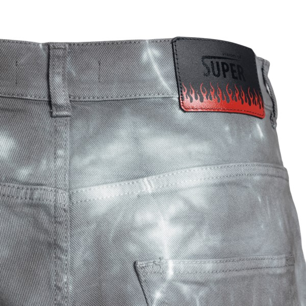 Grey shorts with faded effect                                                                                                                          VISION OF SUPER