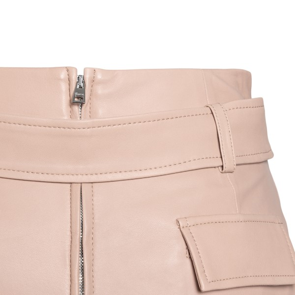 Nude pink leather shorts                                                                                                                               RED VALENTINO