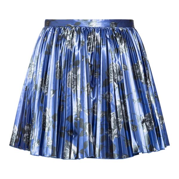 Blue pleated mini skirt                                                                                                                               Red Valentino WR0RFG05 back