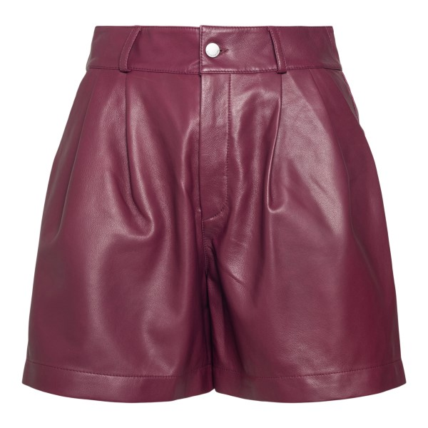 Black cherry leather shorts                                                                                                                           Red Valentino WR3NH01H back