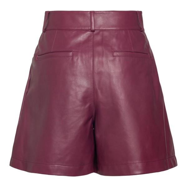Black cherry leather shorts                                                                                                                            RED VALENTINO