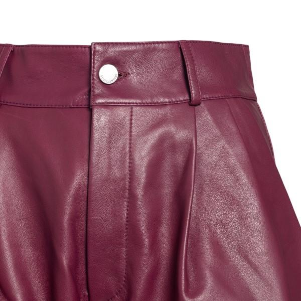 Pantaloncini in pelle color amarena                                                                                                                    RED VALENTINO                                      RED VALENTINO