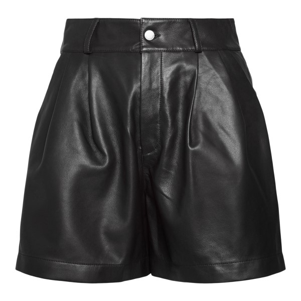 Black leather shorts                                                                                                                                  Red Valentino WR3NH01H back