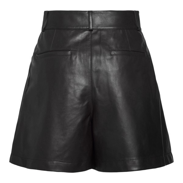 Black leather shorts                                                                                                                                   RED VALENTINO