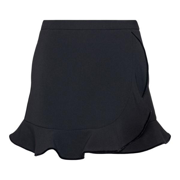 Black shorts in wrap design                                                                                                                           Red Valentino WR3RFF30 back