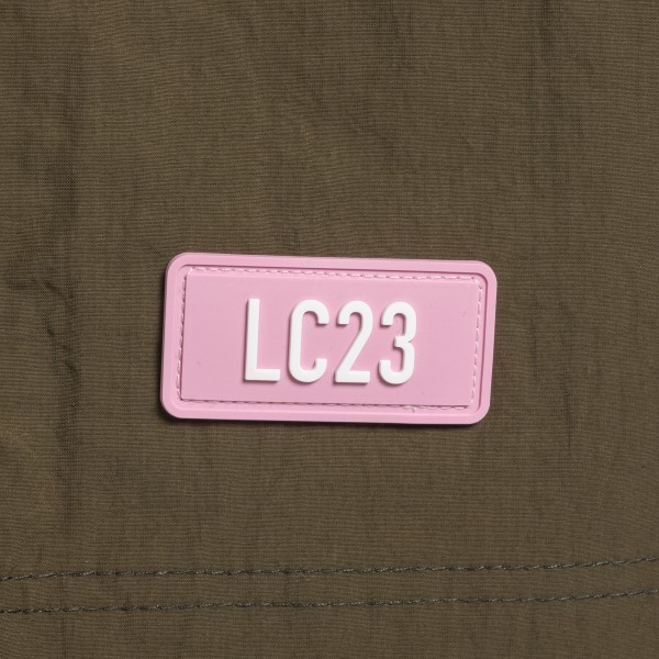 Bermuda verde militare con patch logo                                                                                                                  LC23                                               LC23