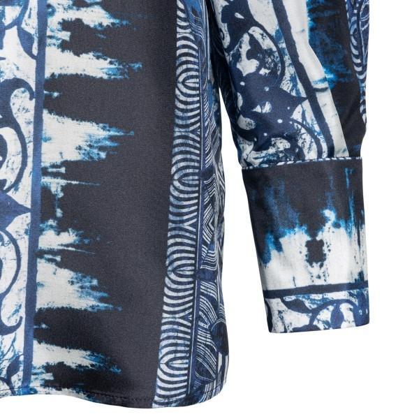 Silk shirt with blue pattern                                                                                                                           ALBERTA FERRETTI