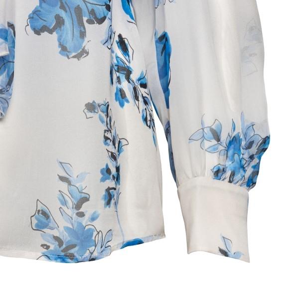 Blusa bianca con stampa floreale                                                                                                                       ALBERTA FERRETTI                                   ALBERTA FERRETTI