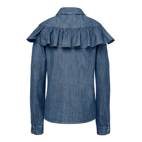 Camicia blu in denim con volant                                                                                                                        PHILOSOPHY                                         PHILOSOPHY