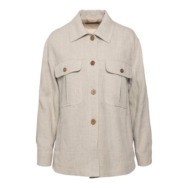Soft shirt in light grey color                                                                                                                        Alberta Ferretti 0506 back