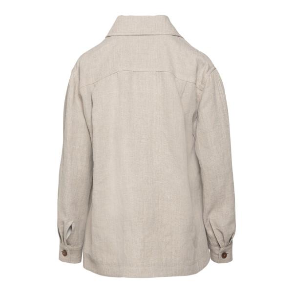 Camicia morbida in colore grigio chiaro                                                                                                                ALBERTA FERRETTI                                   ALBERTA FERRETTI