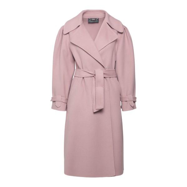 Pink coat with belt                                                                                                                                    ALBERTA FERRETTI