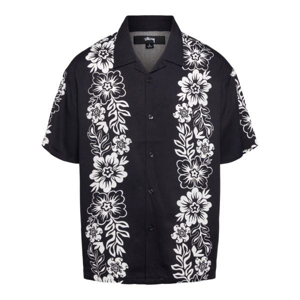 Black floral shirt                                                                                                                                    Stussy 1110157 back