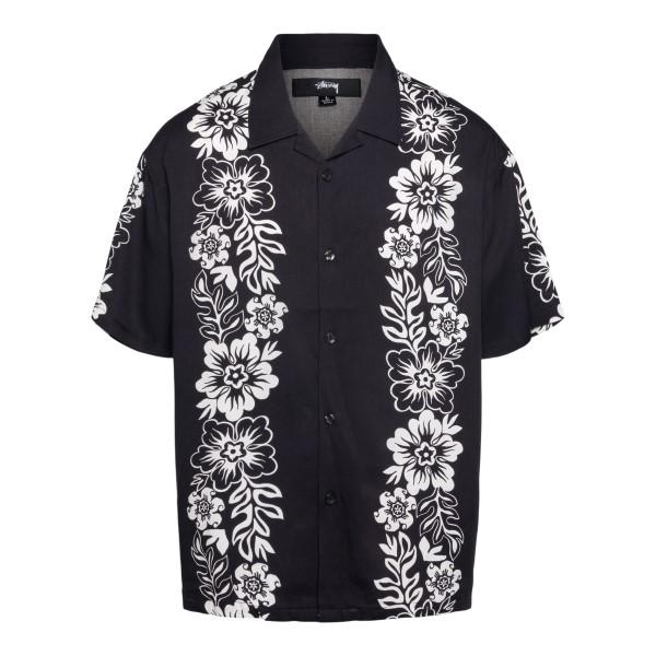 Camicia nera a fiori                                                                                                                                  Stussy 1110157 retro