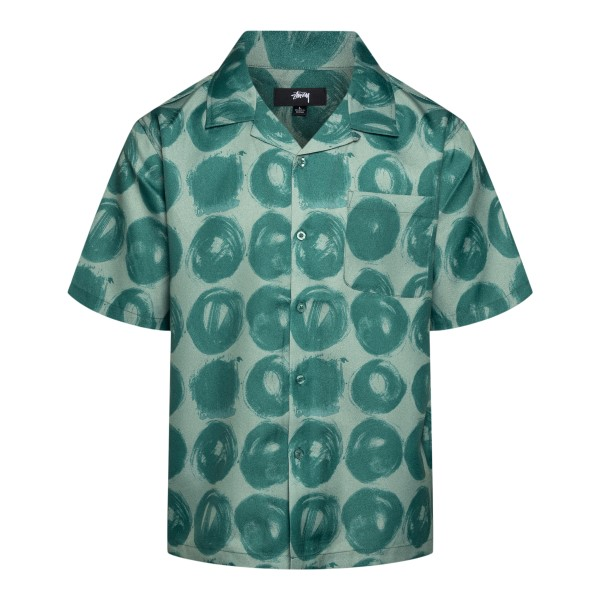 Green shirt with circles pattern                                                                                                                      Stussy 1110158 back