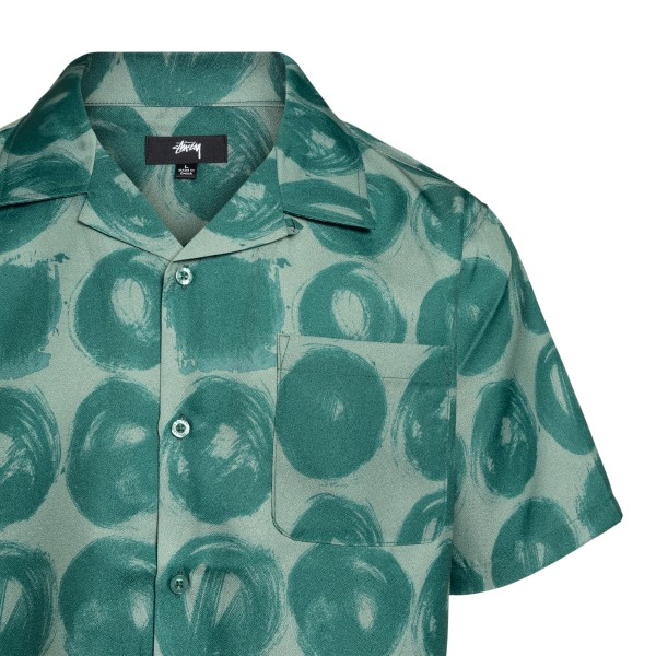 Green shirt with circles pattern                                                                                                                       STUSSY
