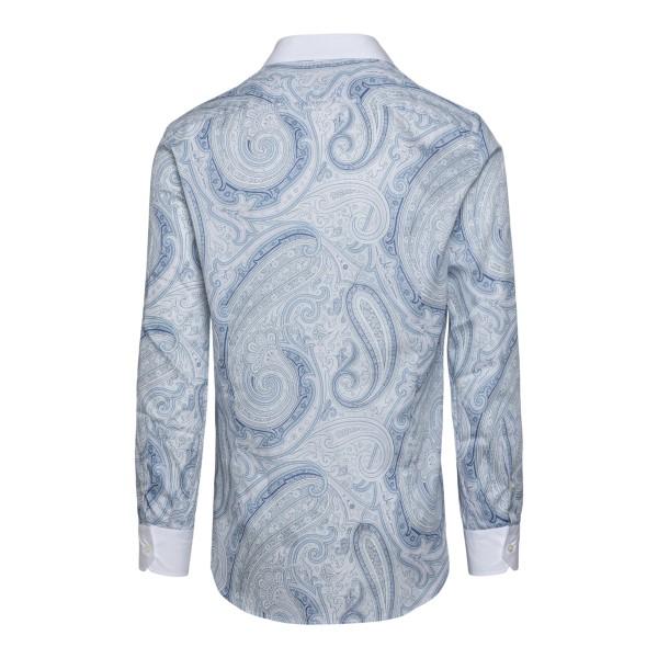 Light blue shirt with paisley motif                                                                                                                    ETRO
