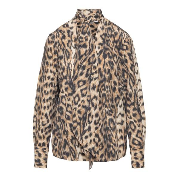 Lightweight animal print shirt                                                                                                                        Victoria Beckham 1221WSH002526A back