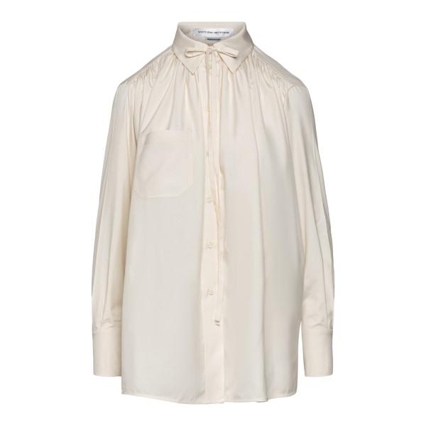 Blusa bianca con collo alla lavallière                                                                                                                Victoria Beckham 1221WSH002493A retro