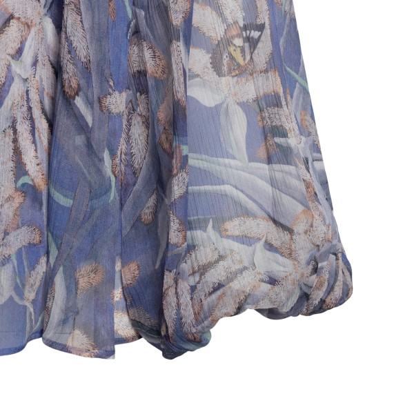Semi-transparent lilac blouse with flowers                                                                                                             ZIMMERMANN
