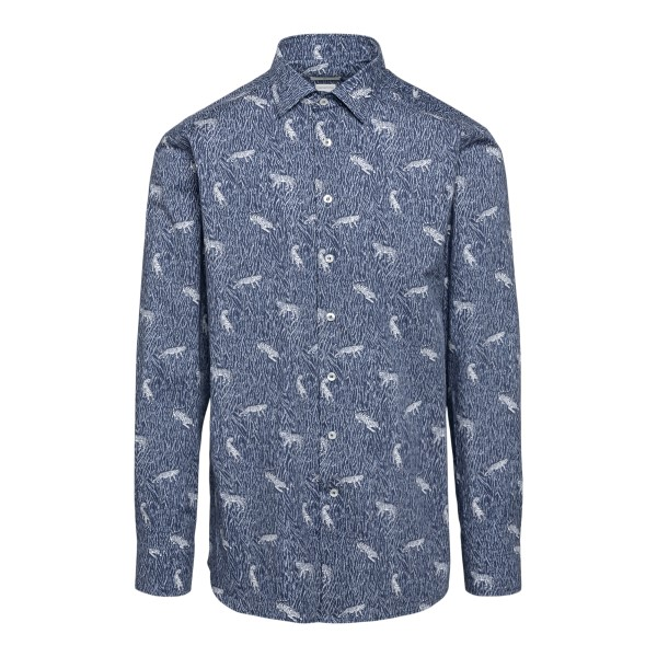 Blue patterned shirt                                                                                                                                  Etro 12908 front