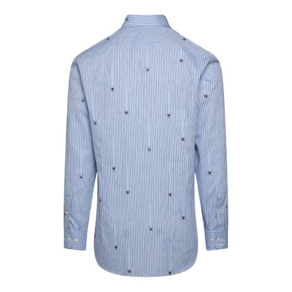Camicia azzurra con stampa ragni                                                                                                                       ETRO                                               ETRO