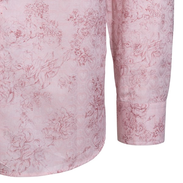 Pink shirt with floral print                                                                                                                           ETRO