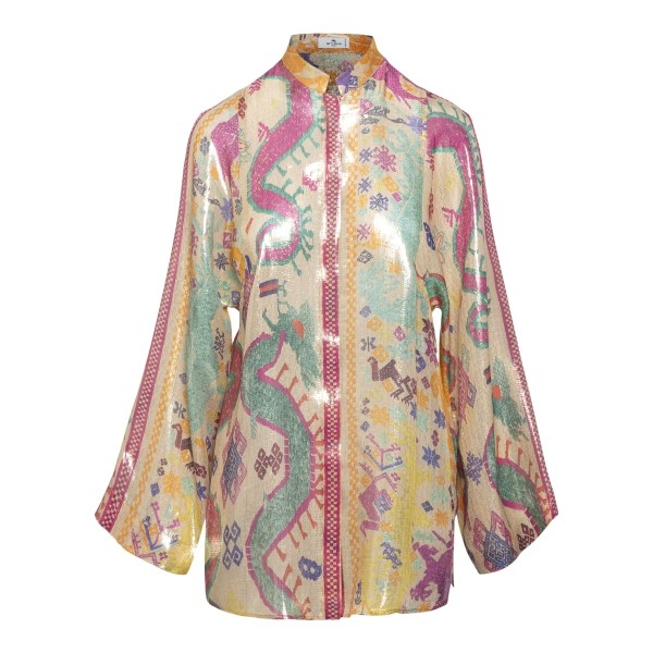 Multicolored patterned shirt                                                                                                                          Etro 14305 front