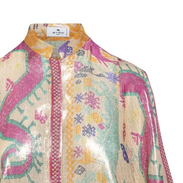 Multicolored patterned shirt                                                                                                                           ETRO