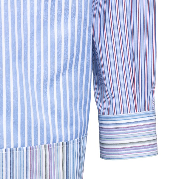 Light blue striped shirt with logo embroidery                                                                                                          ETRO