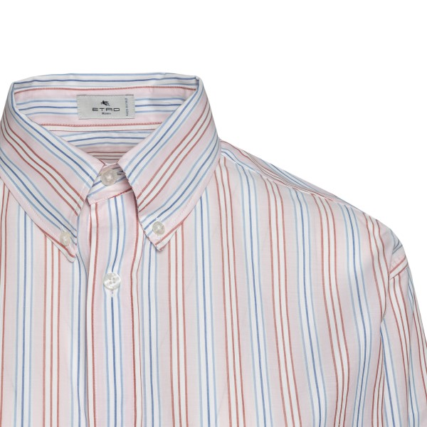Multicolored striped shirt with logo                                                                                                                   ETRO