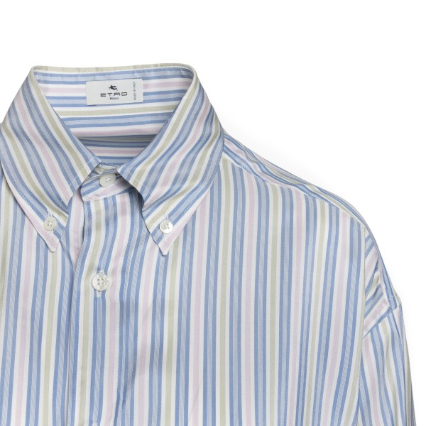 Blue striped shirt with logo                                                                                                                           ETRO