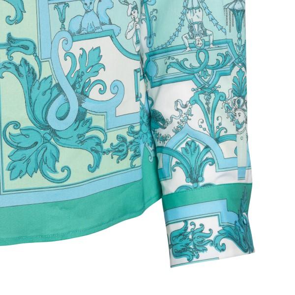 Camicia verde con stampa                                                                                                                               ETRO                                               ETRO