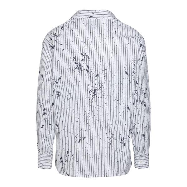 Camicia bianca a righe con macchie vernice                                                                                                             CORELATE                                           CORELATE