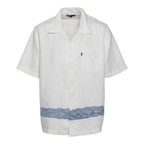 White shirt with wave embroidery                                                                                                                      Levi's 17551 front