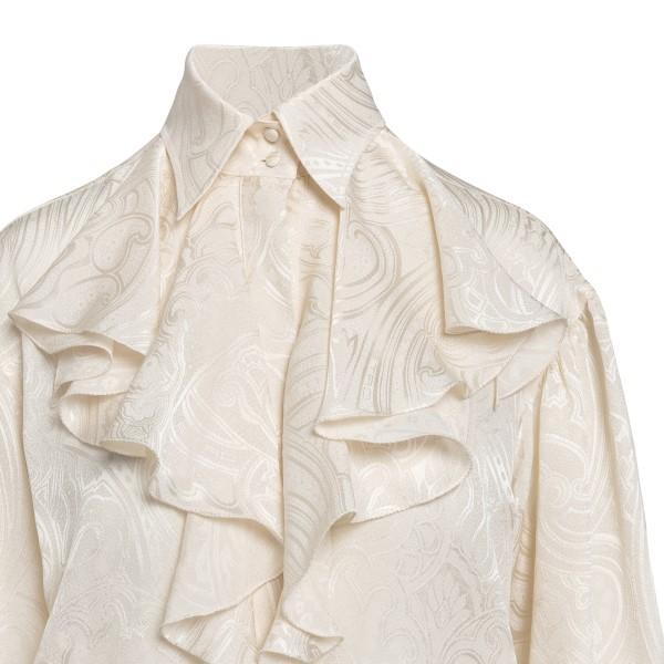 Camicia avorio con drappeggio                                                                                                                          ETRO ETRO