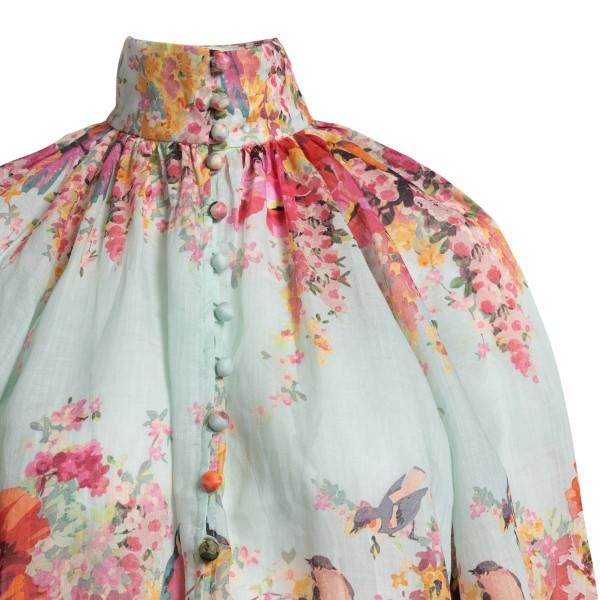 Light blue floral blouse                                                                                                                               ZIMMERMANN