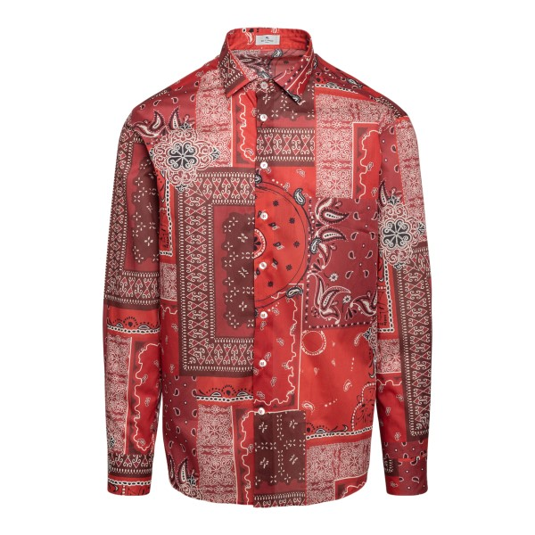 Red patchwork style shirt                                                                                                                             Etro 1K094 front