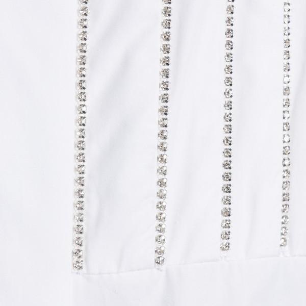 Camicia bianca con strass                                                                                                                              ALEXANDRE VAUTHIER                                 ALEXANDRE VAUTHIER