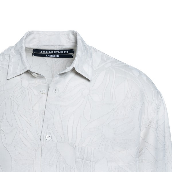 White shirt with floral pattern                                                                                                                        JACQUEMUS