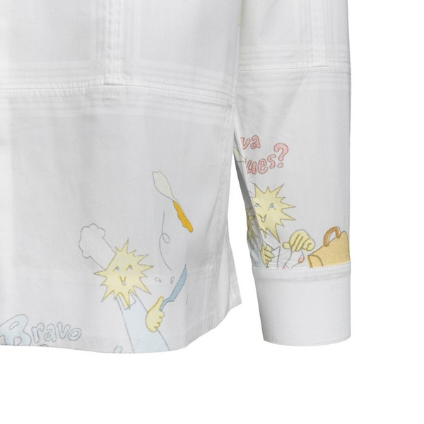 White printed shirt                                                                                                                                    JACQUEMUS