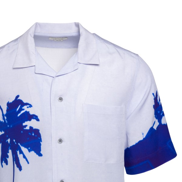 Camicia azzurra con stampa palme                                                                                                                       DRIES VAN NOTEN                                    DRIES VAN NOTEN