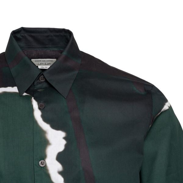 Camicia verde con stampa astratta                                                                                                                      DRIES VAN NOTEN                                    DRIES VAN NOTEN