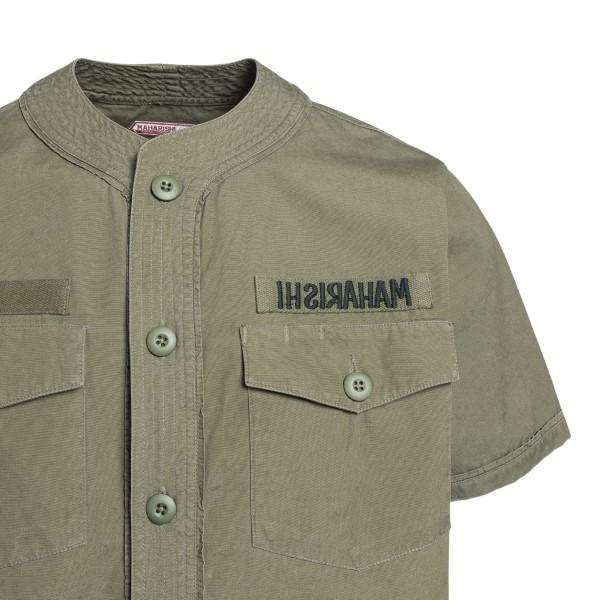 Camicia verde militare con ricamo                                                                                                                      MAHARISHI                                          MAHARISHI