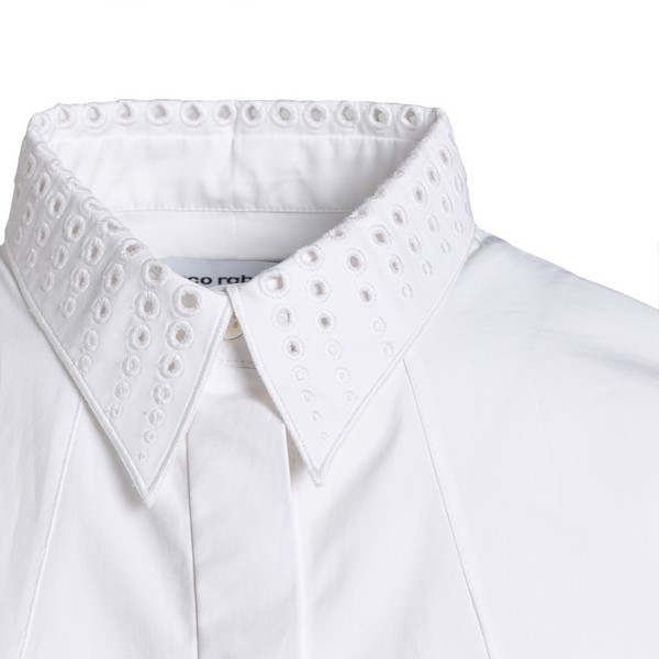 White shirt with drilled detail                                                                                                                        PACO RABANNE