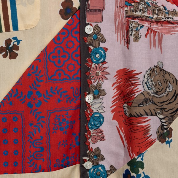 Camicia multicolore stile patchwork                                                                                                                    SACAI                                              SACAI