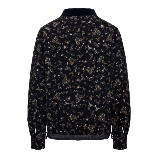 Camicia nera a fiori con zip                                                                                                                           SACAI                                              SACAI