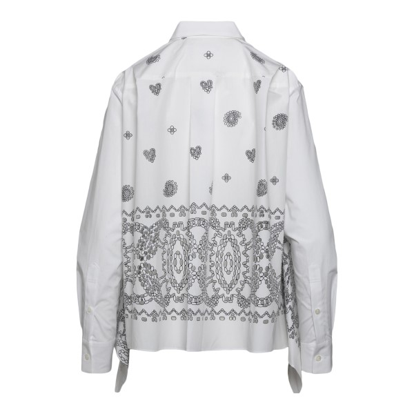 White shirt with paisley print                                                                                                                         SACAI