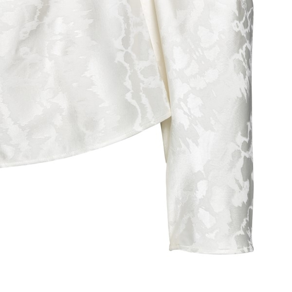 Shiny white blouse with jacquard pattern                                                                                                               THE ATTICO