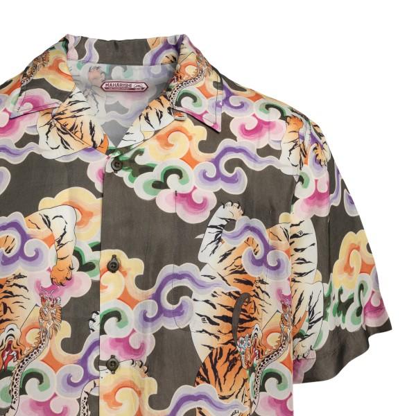 Camicia multicolore con stampa                                                                                                                         MAHARISHI                                          MAHARISHI